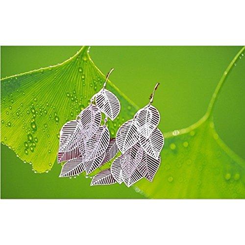 Boucles d'oreilles feuilles argent 925
