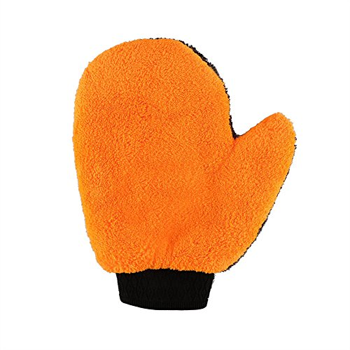 - FinancePlan Car Clean Cloths Wash Mitten Microfiber Coral Fleece Super Absorption Gloves