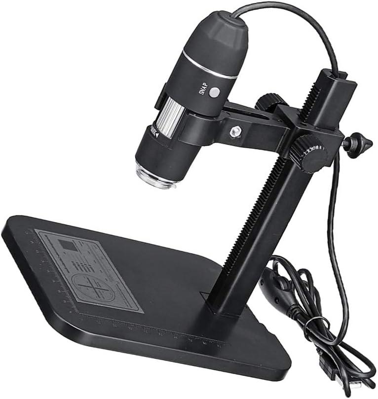 Pandiki 1600x 8LED USB Microscope num/érique Portable Microscope /électronique R/ègle de Mesure Loupe Cam/éra 24bit