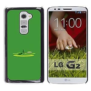 LG G2 - Metal de aluminio y de plástico duro Caja del teléfono - Negro - Alien Lawnmower - Funny