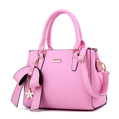 HYP Handmade Leather Tote Bag Travel Bag/&Computer Bag For Women Bow Tie single shoulder bag female bag diagonal female bag.