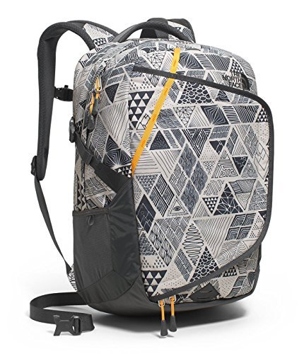 THE NORTH FACE HOT SHOT BACKPACK VINTAGE WHITE TRICKONOMETRY PRINT/RADIANT YELLOW [並行輸入品] B07FHR6L9Z