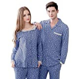 Genshion Long Sleeve Couples Matching Pajamas (2 pcs, Womens XL, Mens XXL)