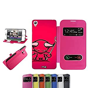 caselabdesigns Flip Carcasa Para Sony Xperia Z3funda Devil Klein D6683Fucsia–Funda protectora plegable de rosa