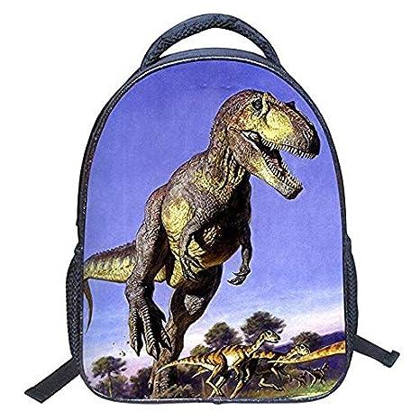 Mochila de dinosaurio 3D, diseño de animales, mochila para niños, escuela, senderismo, mochilas: Amazon.es: Oficina y papelería
