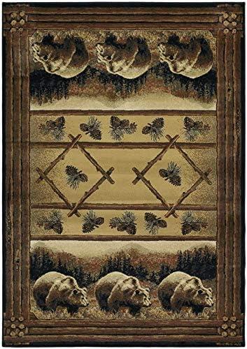 Hautman Grizzly Pines Lodge Novelty Rug Rug Size 7 10 x 10 6
