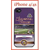 NFL Minnesota Vikings Case for iPhone 4 4s Case Hard Silicone Case Apple iPhone 4 4s