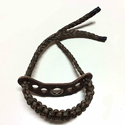 Smarty BS-01 Pure Leather Paracord Archery Braided Compound Bow Wrist Sling Strap by Smarty (Image #1)