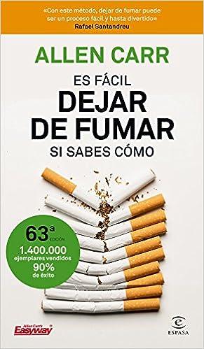 Es Facil Dejar De Fumar Si Sabes Como Fuera De Coleccion Spanish Edition Carr Allen Sivi Rhea Molloy Geoffrey 9788467052930 Amazon Com Books
