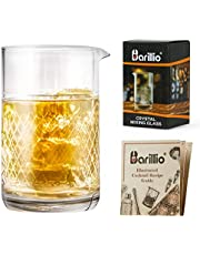 Barillio 20 Oz Crystal Cocktail Mixing Glass Set | Seamless Mixing Pitcher for Stirred Cocktail with Weighted Bottom | Old Fashioned Kit for Bartenders