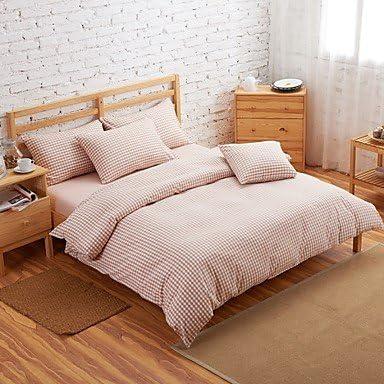 Juego de 4 Muji BuW estilo 100% algodón rosa fundas de edredón para diseño de