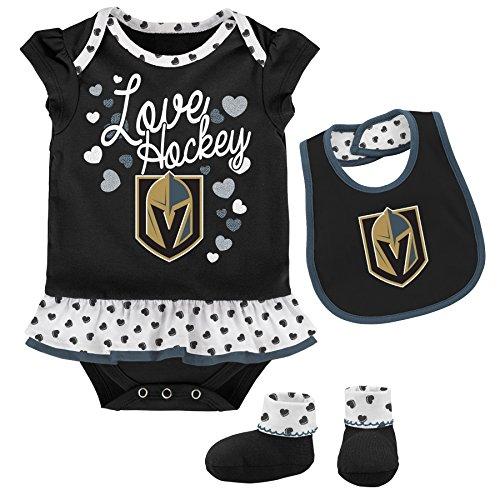4c0eb9b70 Outerstuff NHL Vegas Golden Knights Newborn   Infant Love Hockey Bib    Bootie Set