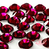 500 pcs RUBY rose pink red 5mm DIY Resin Round Rhinestones Gems 14 facets Flatback *ship with FREE GIFT from GreatDeal68*