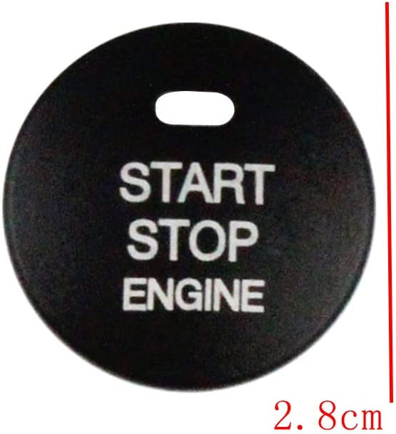 Red shunyang Car Engine Start Stop Push Button Cover Trim and Decorative Ring For Mazda 2 3 6 CX-3 CX-4 CX-5 CX-9 MX-5 Ignition Starter Switch Button Knob Decoration Sticker