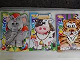 img - for BENDON'S SET OF 3 OVERSIZE board books with plastic moving eyes- THE JUNGLE +THE ZOO +THE CIRCUS book / textbook / text book
