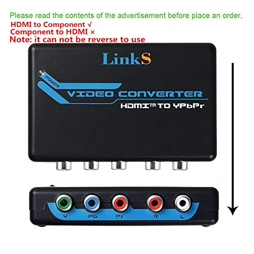 avedio links HDMI to Component Video (YPbPr) RGB + R/L Audio Converter 1080p Support 2 Channels LPCM for PS3, PS4, Blu-ray DVD, Xbox - Flat Rgb Monitors Panel