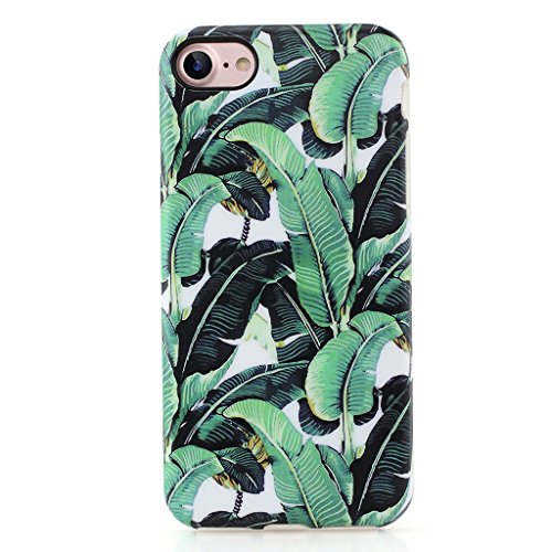 Case Banana (GOLINK iPhone 7 Case for Girls/iPhone 8 Case, IMD Printing Slim-Fit Anti-Scratch Shock Proof Anti-Finger Print Flexible TPU Gel Case For iPhone 7/iPhone 8 - Banana Leaf)