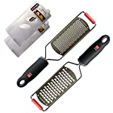 Di Oro Pro Grade Handheld Fine Zester and Cheese Grater 2-Piece...