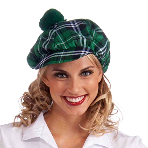 Forum Novelties Women's Green Plaid Cap, As Shown, ()