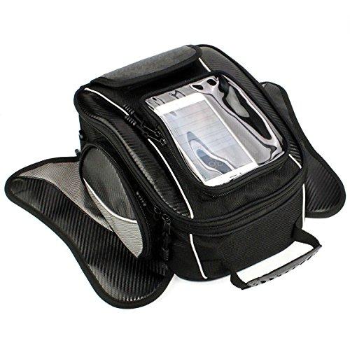 Motorcycle Tank Bag - Waterproof Oxford Saddle Black Motorbike Bag - Universal Strong Magnetic Bag for Honda Yamaha Suzuki Kawasaki Harley - Dracarys -