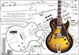 Plan of Gibson ES-175 Archtop Electric Guitar - Full Scale Print