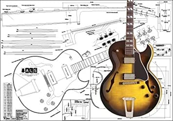 51rla Ww4cL._SX355_ amazon com plan of gibson es 175 archtop electric guitar full gibson es 175 wiring diagram at bayanpartner.co