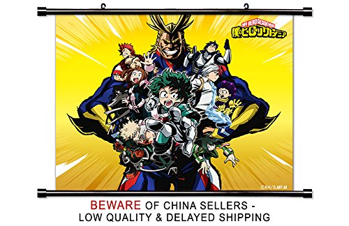 My Hero Academia Anime Fabric Wall Scroll Poster  Inches