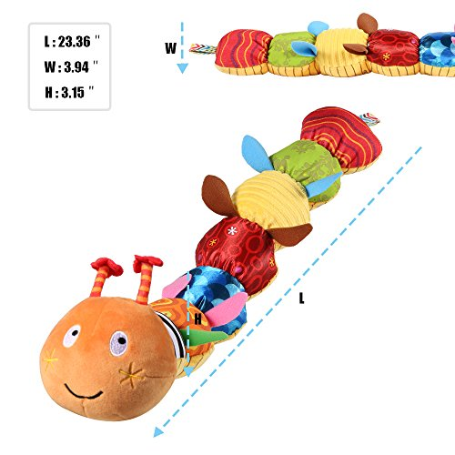 LIGHTDESIRE Musical Toy Caterpillar [Newest] Crinkle Rattle Soft with Ring Bell Toddler Plush Toy for Preschool Kid by LIGHTDESIRE (Image #2)