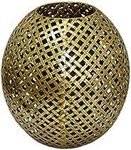 Vaso Decorativo em Metal Gold Trellis P