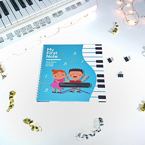 Play Lessons (My First Note: Play the Keyboard for Kids, Music Notes With Letters and Songs for Children and Toddlers, Music Educational Book for Beginning Musicians! by Made With Tone)