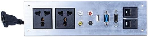 Toma de Mesa Multimedia Pantalla de Panel De Aleación de Aluminio ...