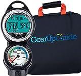 Cressi Giotto C2 psi Dive Computer Console, Scuba Diving Instrument w/GupG Reg Bag