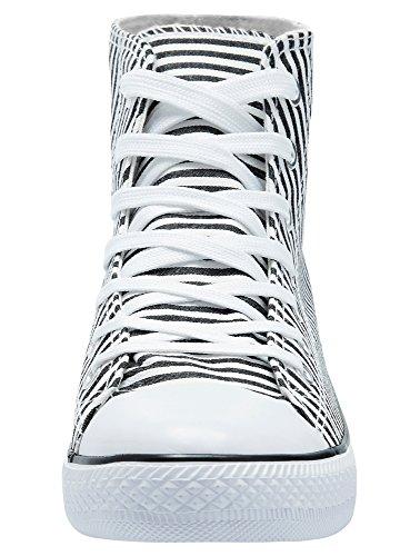 Ultra Blanc 1029s Femme De Toile Oodji Baskets Coton Montantes En d8gAqTqxw