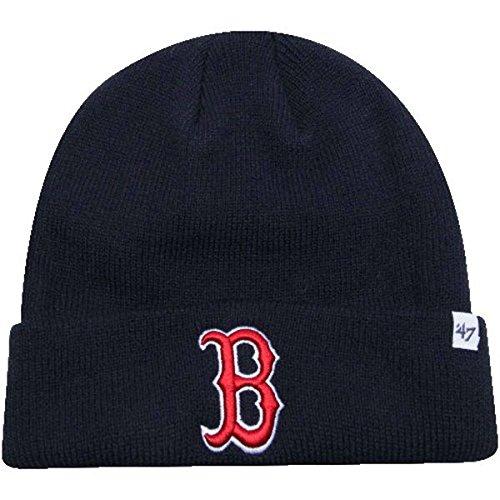 Boston Red Sox Navy Blue Cuff Beanie Hat - MLB Cuffed Winter Knit Cap - Red Winter Beanie