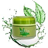 Best Green Tea Matcha Facial Mud Mask, Removes Blackheads, Reduces Wrinkles, Nourishing, Moisturizing, Improves Overall Complexion, Antioxidant, Skin Lightening & Anti Aging, All Skin Face Types