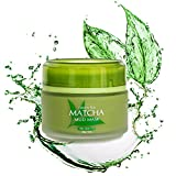 Green Tea Cleansing Effect - Best Green Tea Matcha Facial Mud Mask, Removes Blackheads, Reduces Wrinkles, Nourishing, Moisturizing, Improves Overall Complexion, Antioxidant, Skin Lightening & Anti Aging, All Skin Face Types