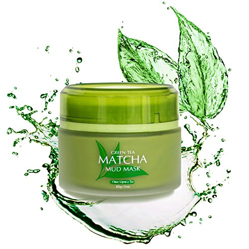 Best Green Tea Matcha Facial Mud Mask, Removes Blackheads, Reduces Wrinkles, Nourishing, Moisturizing, Improves Overall Complexion, Antioxidant, Skin Lightening & Anti Aging, All Skin Face Types from Once Upon A Tea