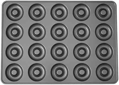 Wilton Perfect Results Non-Stick Donut Pan, 20-Cavity Donut Baking Pan 2105-1808 Perfect Results 20-Cavity Mega Donut Pan, No Color