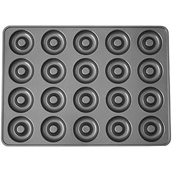 Wilton Perfect Results Non-Stick Donut Pan, 20-Cavity Donut Baking Pan