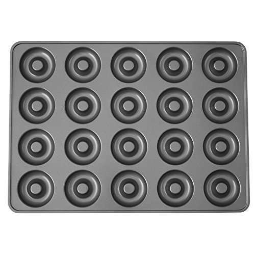 Wilton Perfect Results Non-Stick Donut Pan, 20-Cavity Donut Baking Pan 2105-1808 MEGA, Color by Wilton Perfect Results Non-Stick Donut Pan, 20-Cavity Donut Baking Pan