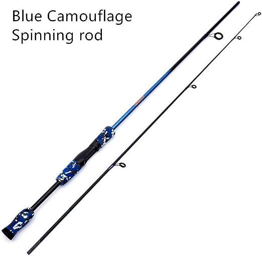 WOMEII caña de Pescar 1.8M Cañas Spinning de Fibra de Carbono Azul ...