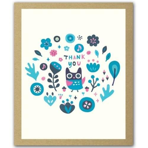 Owl Cutie GreenThanks
