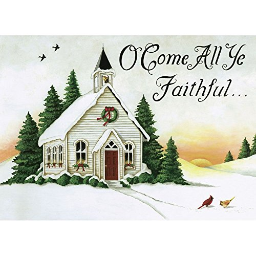 Legacy Publishing Group Boxed Holiday Greeting Cards with Scripture, Winter Porch (HBX32203)