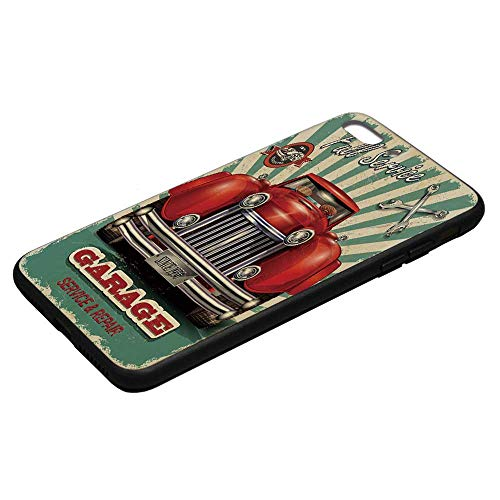 Man Cave Decor Utility Phone Case,Old Fashioned Advertising Signboard Print Fifties Style Worn Grungy Display Decorative Compatible with iPhone 8 Plus, iPhone 8 Plus