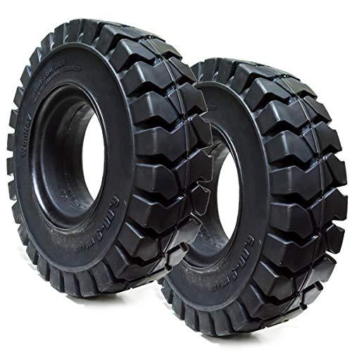 Set of 2 6.00-9 Tires Solid Solver Forklift Tire 6.00/9 Flat Proof 6009