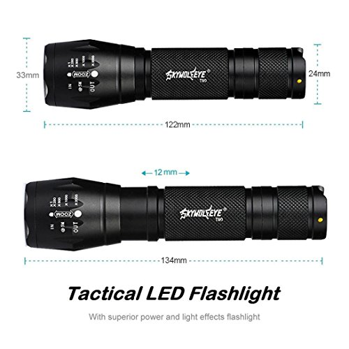 Angelof 2 X Tactical Lampe Torche Rechargeable Lampe Baladeuse