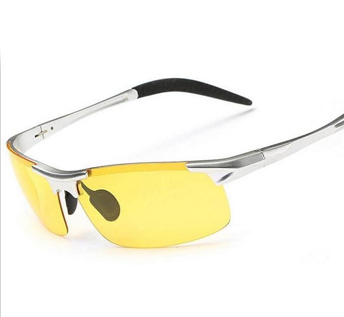 Addora Moda Gafas De Sol Polarizadas Hombres Gafas De Conducir Gafas De Visión Nocturna Gafas De Paseo, Yellow-OneSize: Amazon.es: Ropa y accesorios