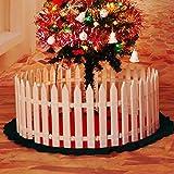 LYCOS3 Christmas Xmas Tree Surround Fence, 20 Pcs White Anti-UV Plastic Picket Fences Miniature Border Grass Lawn Edge Fence for Garden Christmas Xmas Tree Decoration (20Pcs)