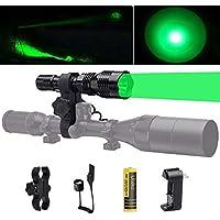 Ulako 250 Yards Range Green Light Tactical Flashlight...