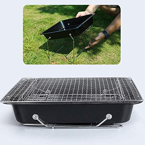 Xiaoyue Barbecue au Charbon Grill Barbecue Pliable Portable Grill Poêle en Acier Inoxydable Patio Camping en Plein air de Pique-Nique BBQ Accessoires Outils lalay